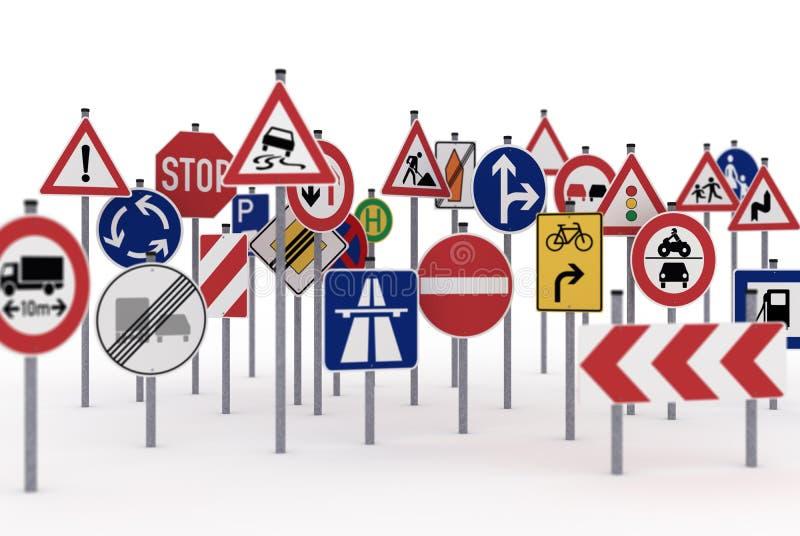 Traffic signs royalty free illustration