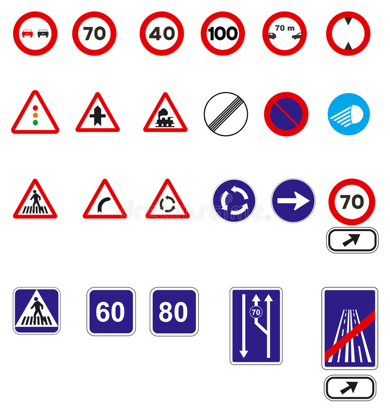 Download Traffic signs stock vector. Illustration of clip, european - 629942