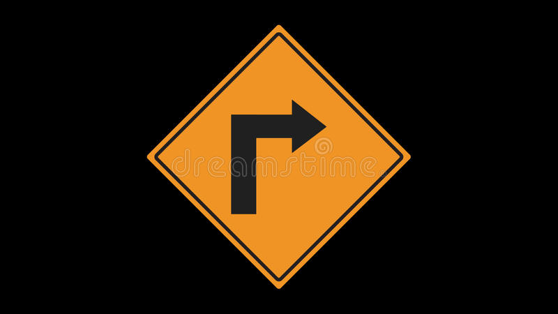 Traffic signs animated stock video footage