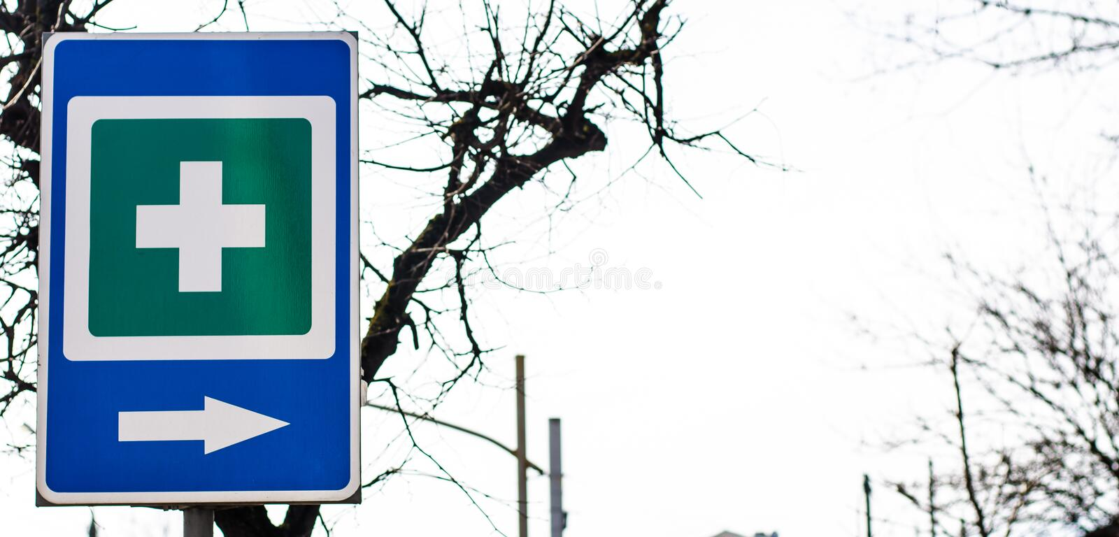 Traffic signs in the background stock photography
