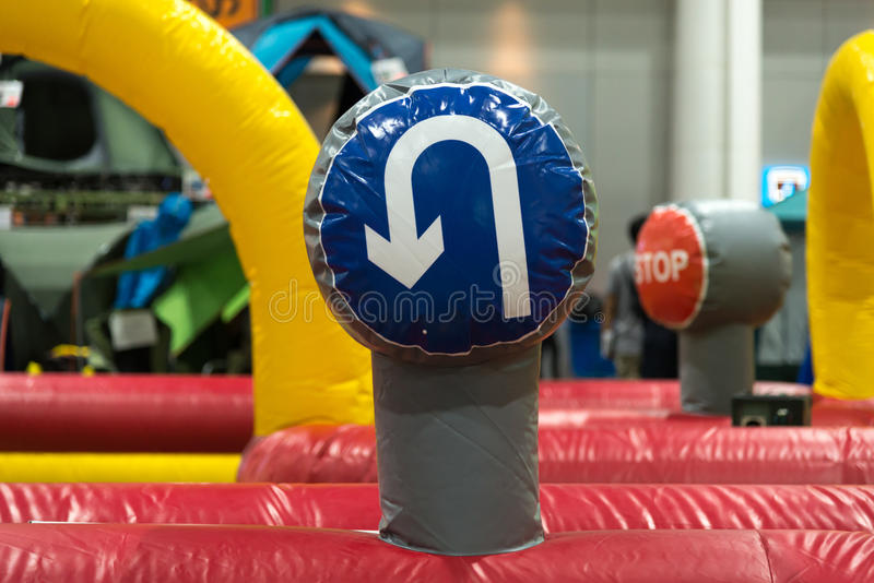 Traffic signs balloons. Traffic signs, balloons in toys stock photos