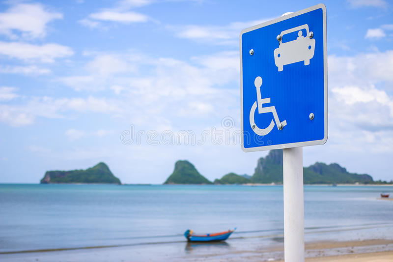 Traffic Signs on the beach. Signs suggest a foreground of the sea stock photos