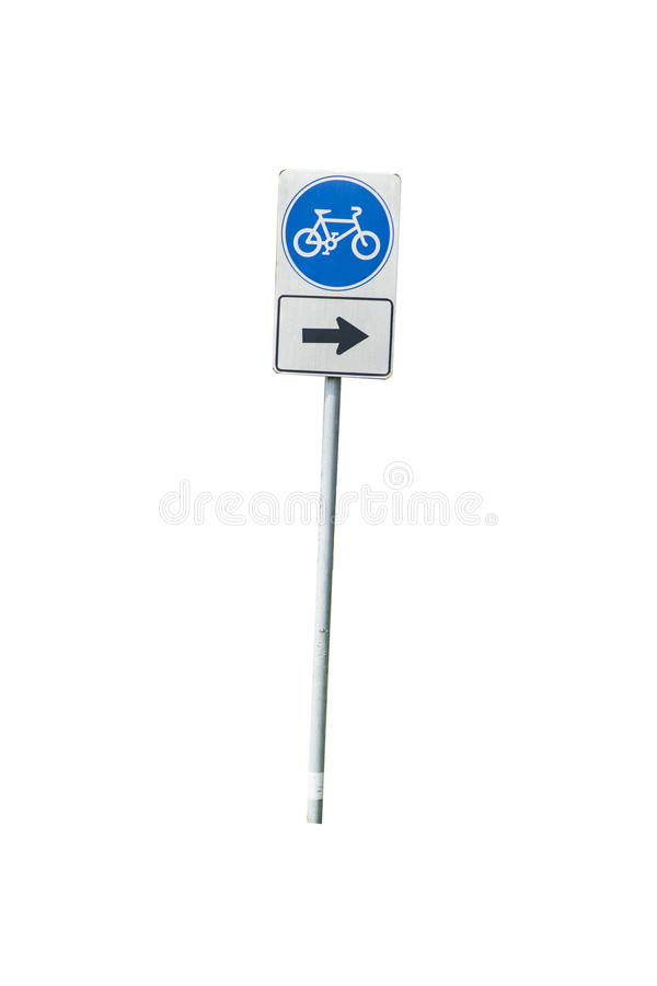 Traffic Signs bike way stock image