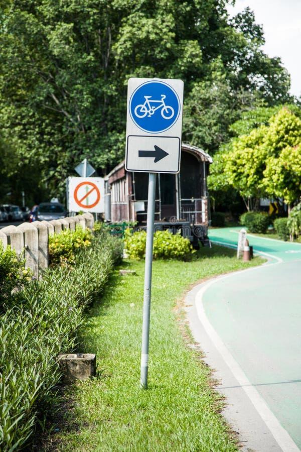 Traffic Signs bike way royalty free stock photo