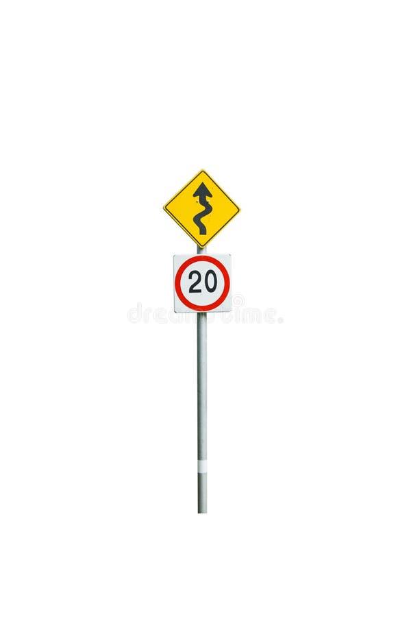 Traffic Signs bike way stock photo