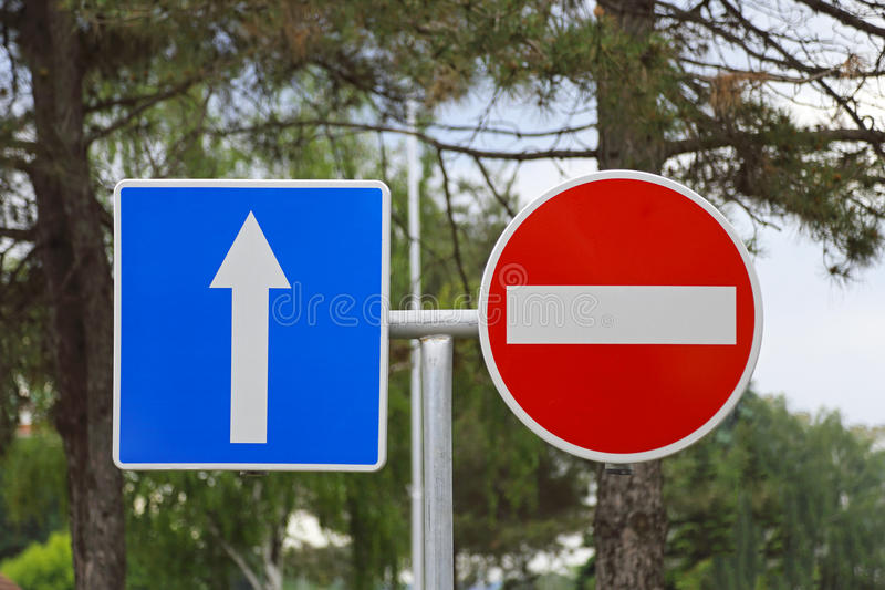 Traffic Signs stock photography