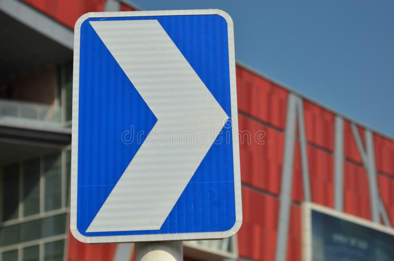 Traffic signs. In front of the buildingnPhoto taken on: October , 2014 stock photos