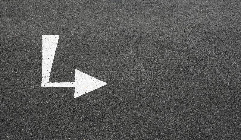 Traffic signs on new asphalt road with copy space. View from Opposite side.  stock images