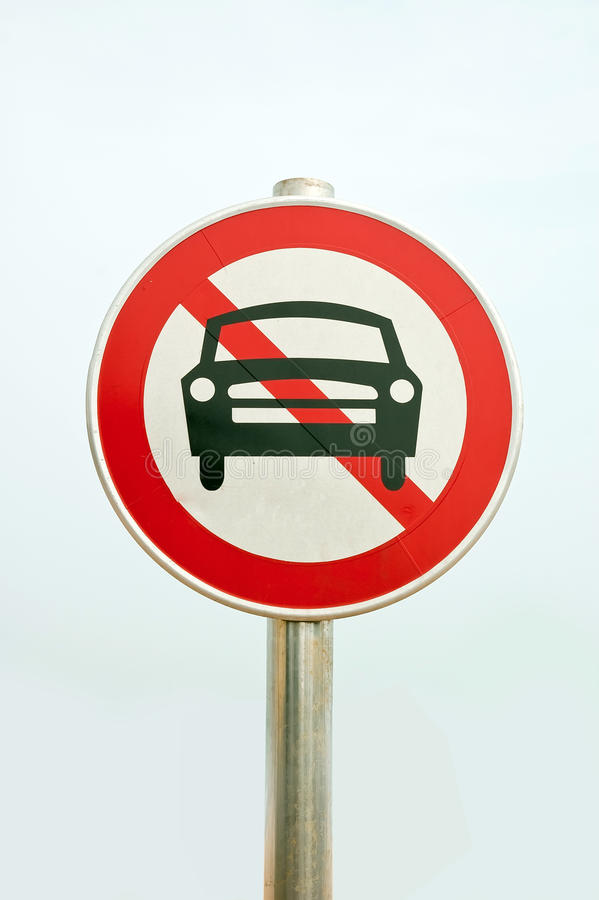 Traffic signs: no-go. Traffic Signs that show stop Traffic access stock photo