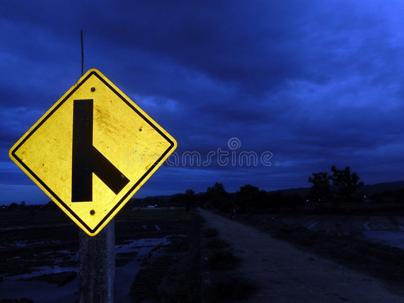 Traffic Signs. An object, quality, or event whose presence or occurrence indicates the probable presence or occurrence of something else stock photography