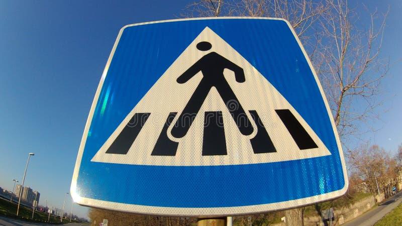 Traffic Signs Pedestrian Walkway royalty free stock photo