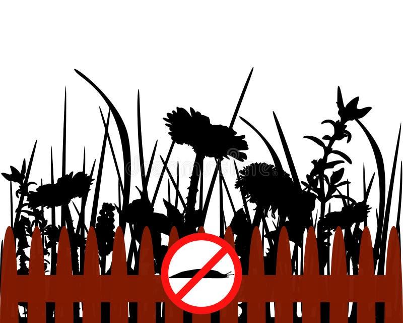 Traffic signs for slugs vector illustration