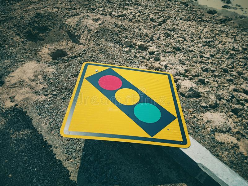 Traffic signs in the Southeast Asian. Region stock images