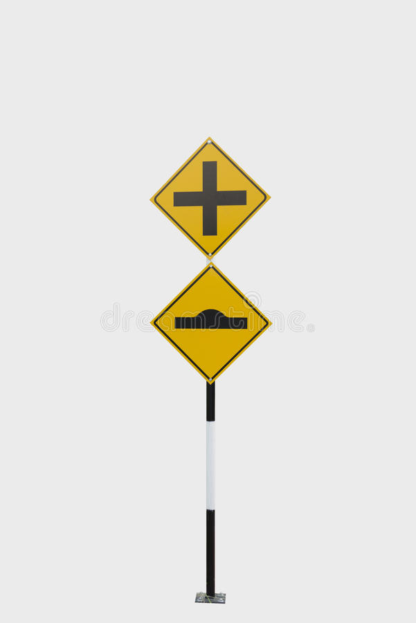 Traffic Signs. Street intersection congested with street signs overload royalty free stock photo