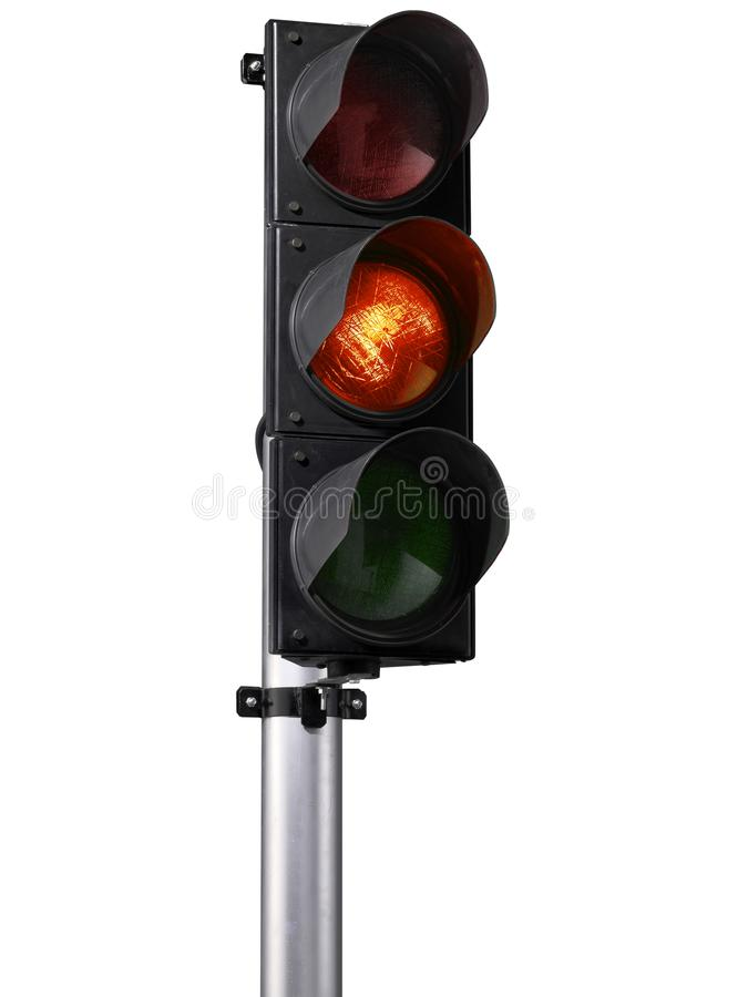 Traffic Signs: Traffic Signal with Various Lights isolated on white background royalty free stock photos
