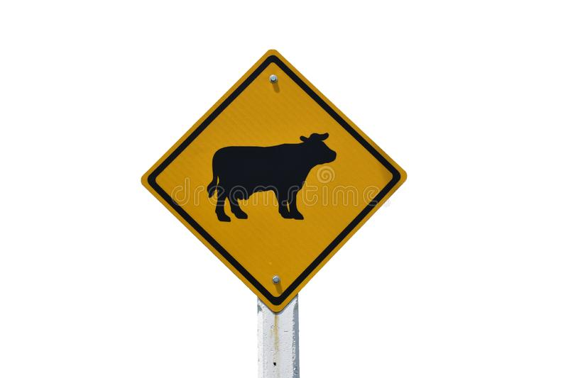 Traffic signs Warning signs Be careful of animals crossing the road royalty free stock photography