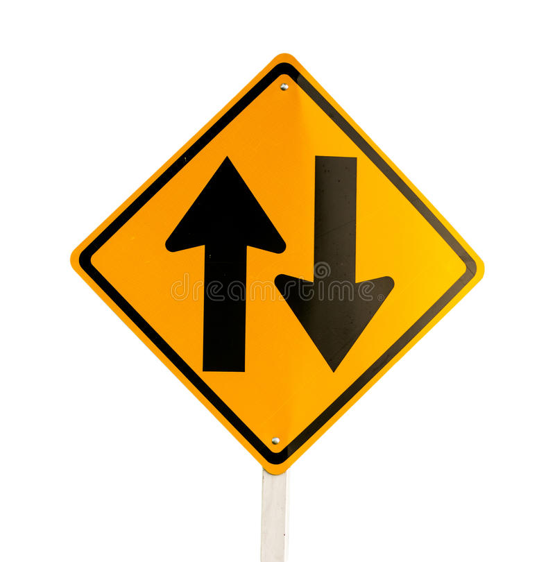 Traffic Signs. On white background stock photos