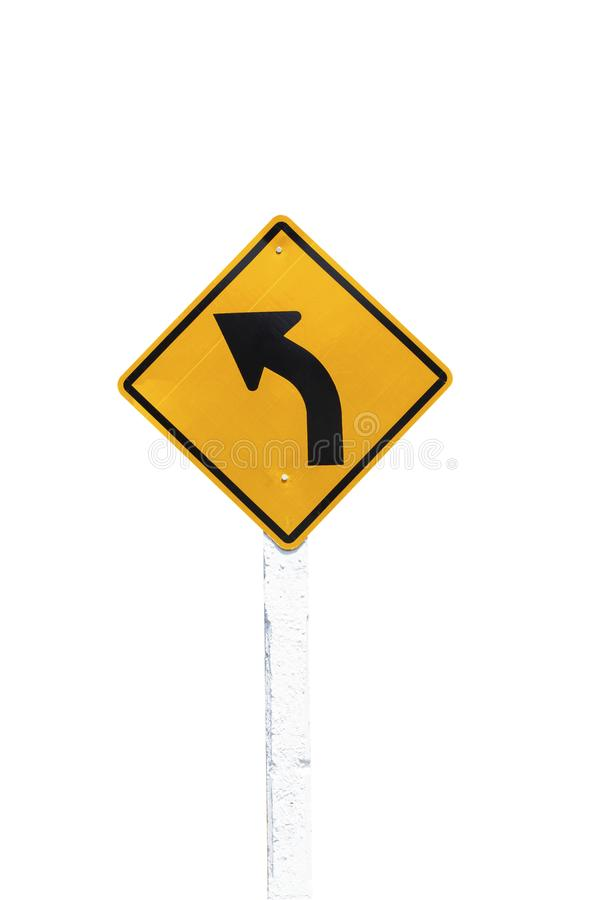 Traffic Signs yellow board on white background isolated stock image