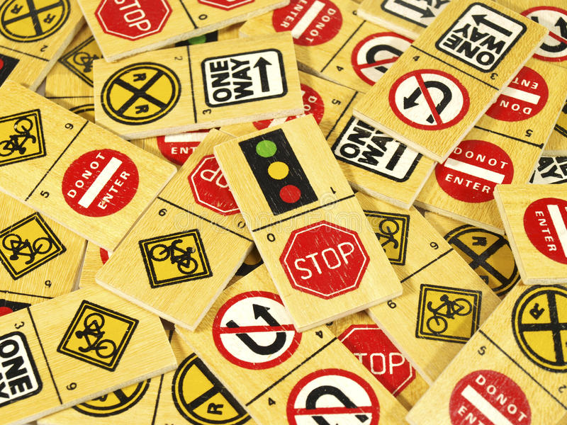 Download Traffic stop sign dominoes stock photo. Image of bicycle - 22660072