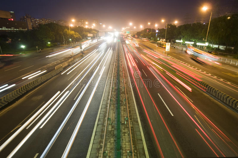 Download Traffic on sunset editorial stock image. Image of highway - 28737124