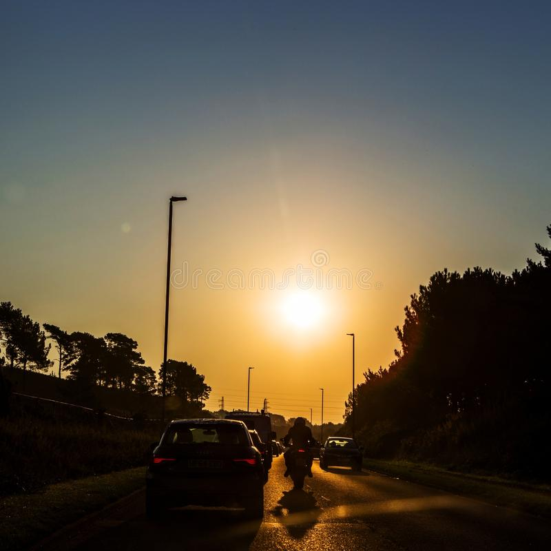 Download Traffic At Sunset Towards Cherbourg, France Editorial Image - Image of drive, street: 105328805