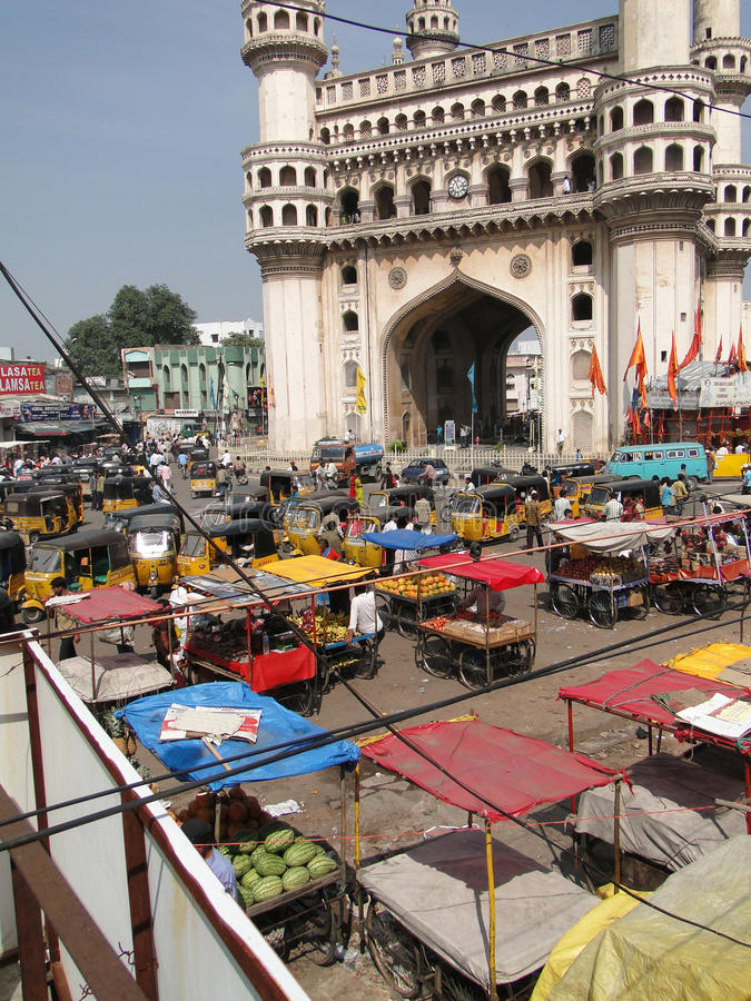Download Traffic Surrounds The Charminar Editorial Photo - Image of souk, urban: 16300176
