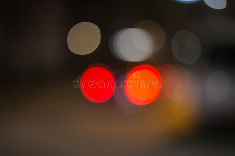 Traffic signs at night. Traffic symbols in the dark november evening in south germany near city of munich and stuttgart royalty free stock photography