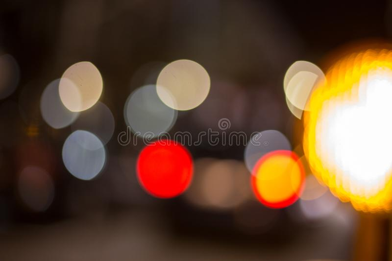Traffic signs at night. Traffic symbols in the dark november evening in south germany near city of munich and stuttgart stock image