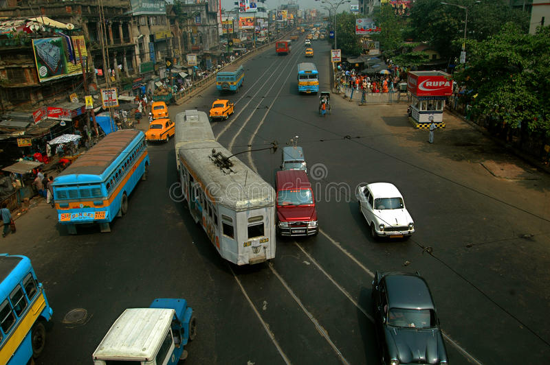 Traffic System In India Editorial Photography