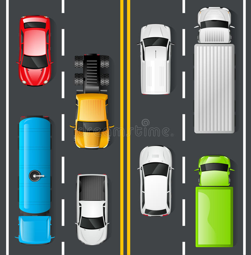 Traffic Top View vector illustration