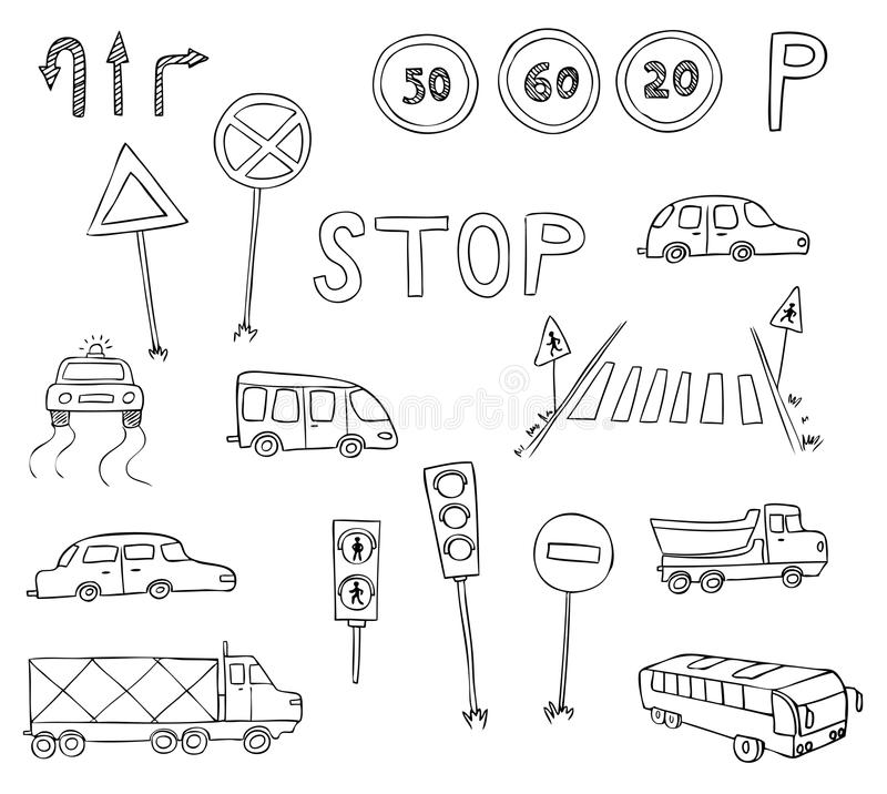 Download Traffic And Transportation Set Stock Vector - Image: 24603874