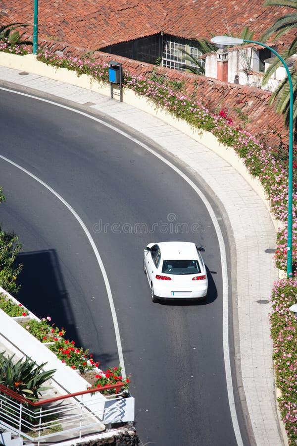 Traffic uphill stock photography