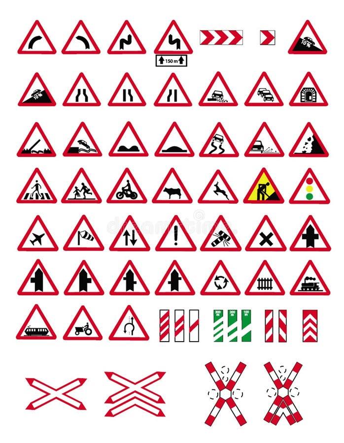Free Traffic Warning Signs Royalty Free Stock Image - 11798996