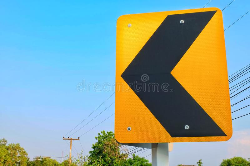 Traffic warning signs. On street royalty free stock photography