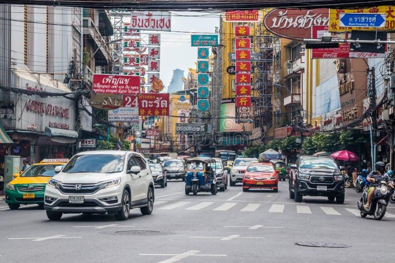 Traffic on Yaowarat Road stock photos