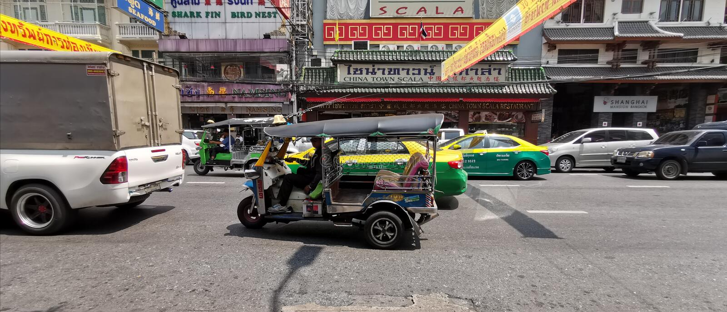 Traffic on Yaowarat Road royalty free stock image