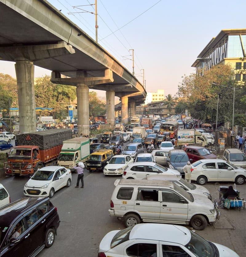 Traffice dans Mumbai photo stock