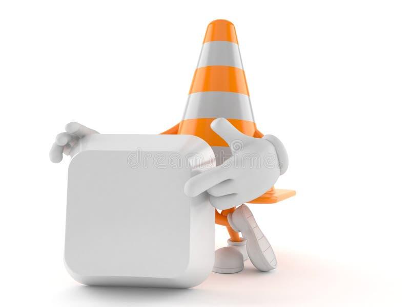 Traffichi il carattere del cono che indica il dito sulla chiave di tastiera illustrazione vettoriale