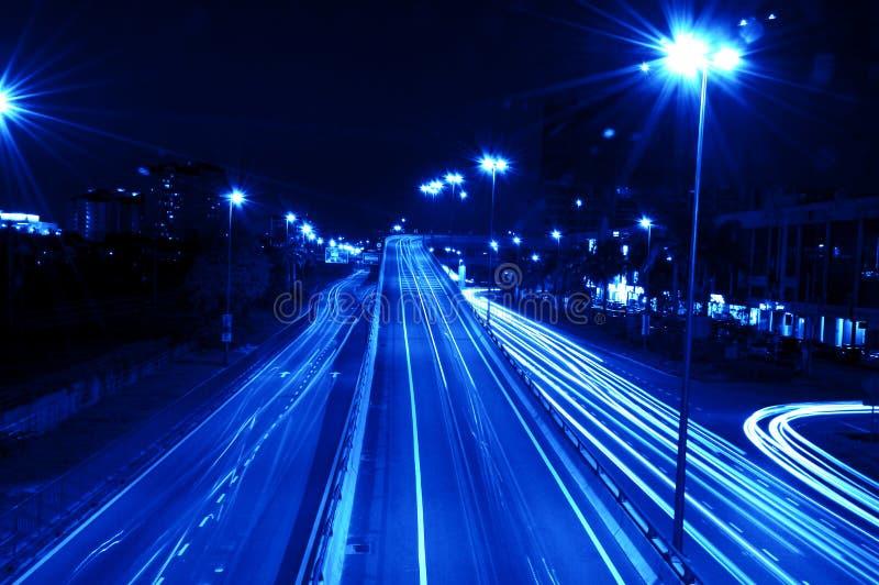 Traffici di notte fotografie stock
