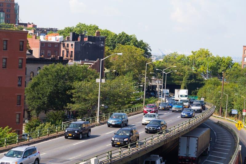 Traffico a Brooklyn fotografia stock libera da diritti
