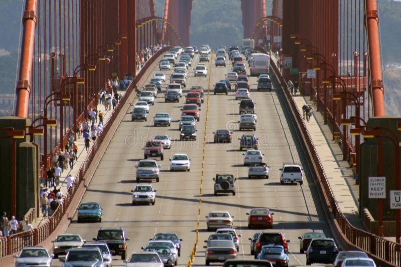 Traffico di golden gate bridge  immagine stock libera da diritti