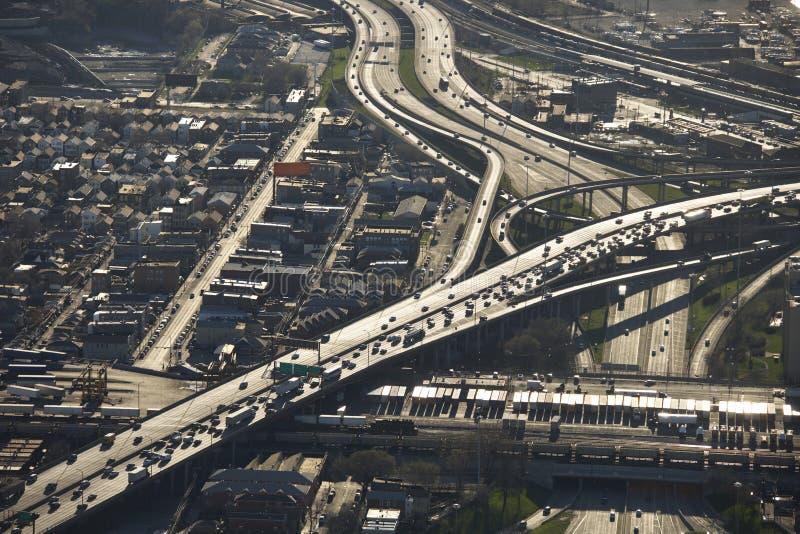 Traffico del Chicago. fotografia stock libera da diritti