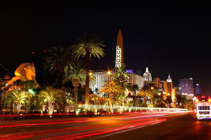 Traffico del Las Vegas Boulevard fotografia stock libera da diritti