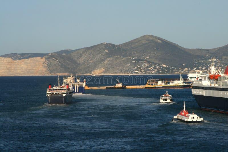 Traffico del traghetto fotografia stock