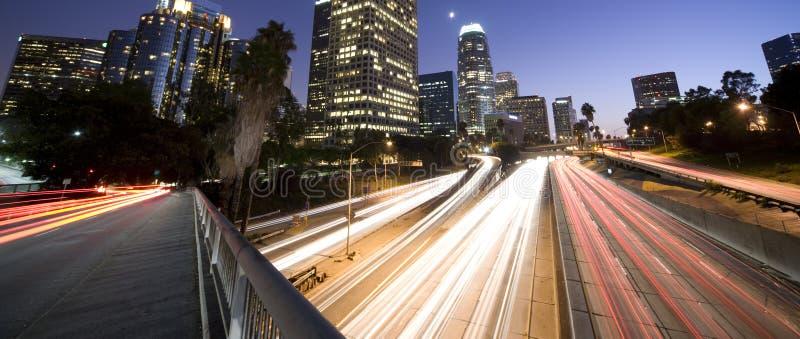 Traffico della strada principale di Los Angeles fotografia stock libera da diritti
