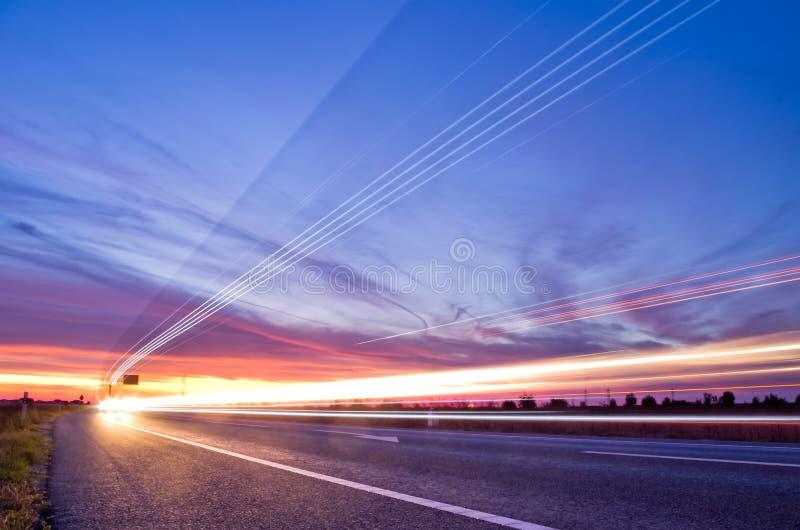 Traffico delle striscie palide immagini stock