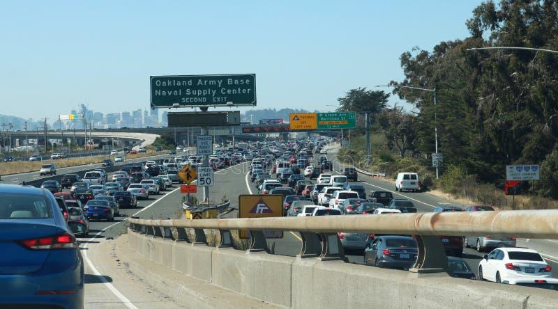 Traffico di area di San Francisco Bay fotografie stock libere da diritti