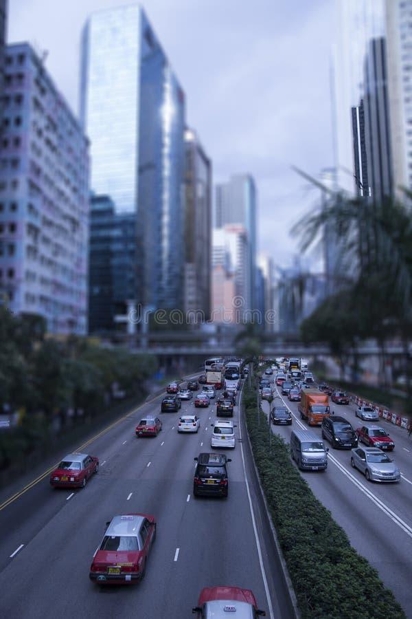 Traffico di Hong Kong durante il giorno immagine stock libera da diritti