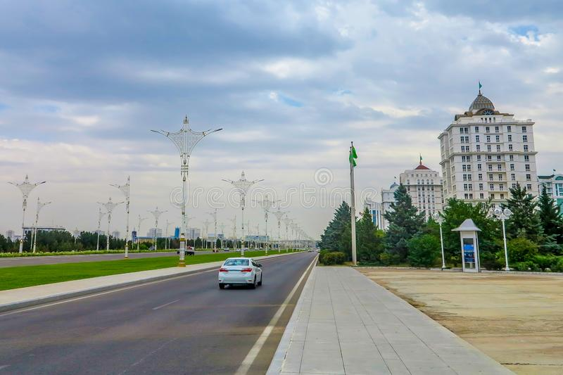 Traffico 01 di intensità bassa di Asgabat immagini stock libere da diritti