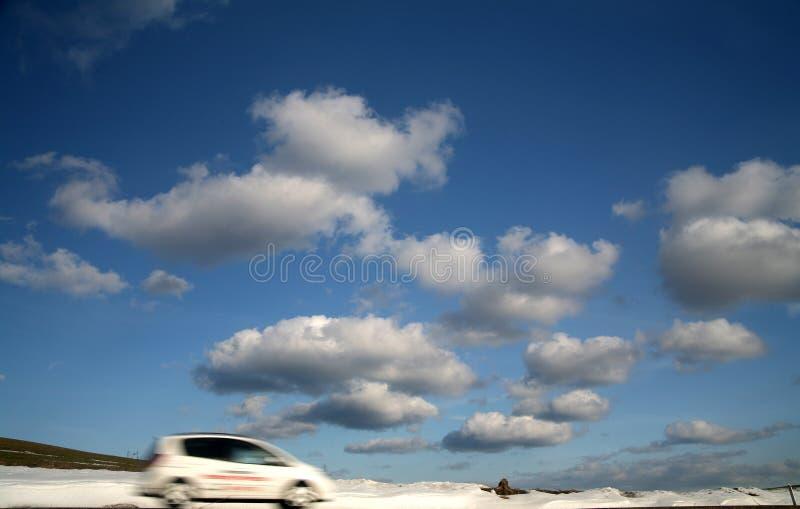 Traffico di inverno fotografie stock